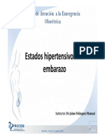 Tema Estados Hipertensivos Del Embarazo