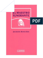 El Maestro Ignorante - Jacques Ranciere_noPW