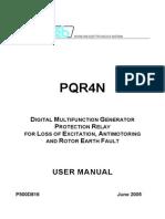 PQR4N_Rele Proteccion Perdida de Exitacion-proteccion de Potencia Inversa y Defectos a Tierra Rotor