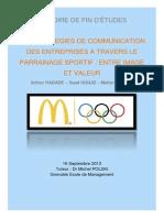 Les stratégies de communication des entreprises à travers le parrainage sportif