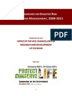 Up Researches on Disaster Risk Reduction and Management 2008-2011 Comp