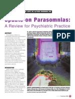 Update on Parasomnias