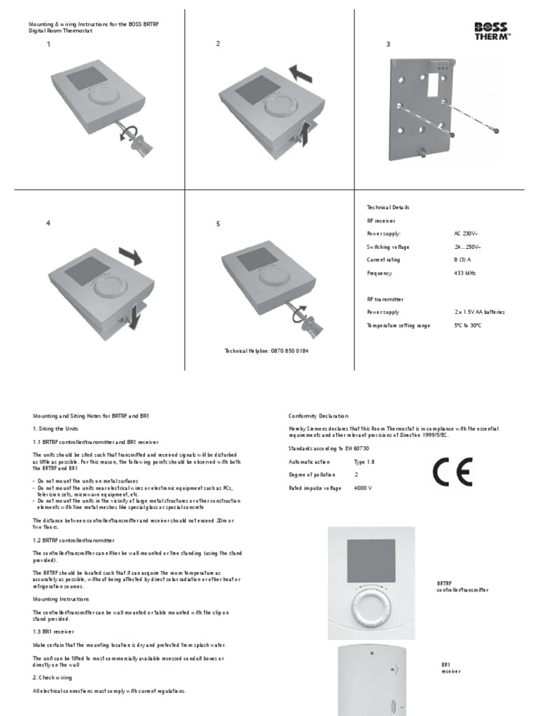 Wireless Thermostat Installation Instructions Old House Wiring How To Install A This
