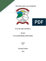 Plan de área de Física 11º