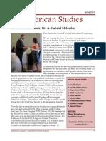 Department of American Studies 2012 Newsletter