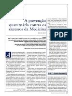 11-A Prevenvenção Quaternária contra os excessos da medicina