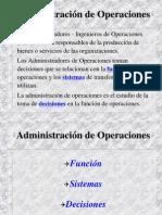 1. Administraciones de Operaciones