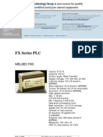 Mitsubishi Melsec FX Series PLC Datasheet
