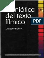 Desiderio Blanco Semiótica del texto fílmico  2003