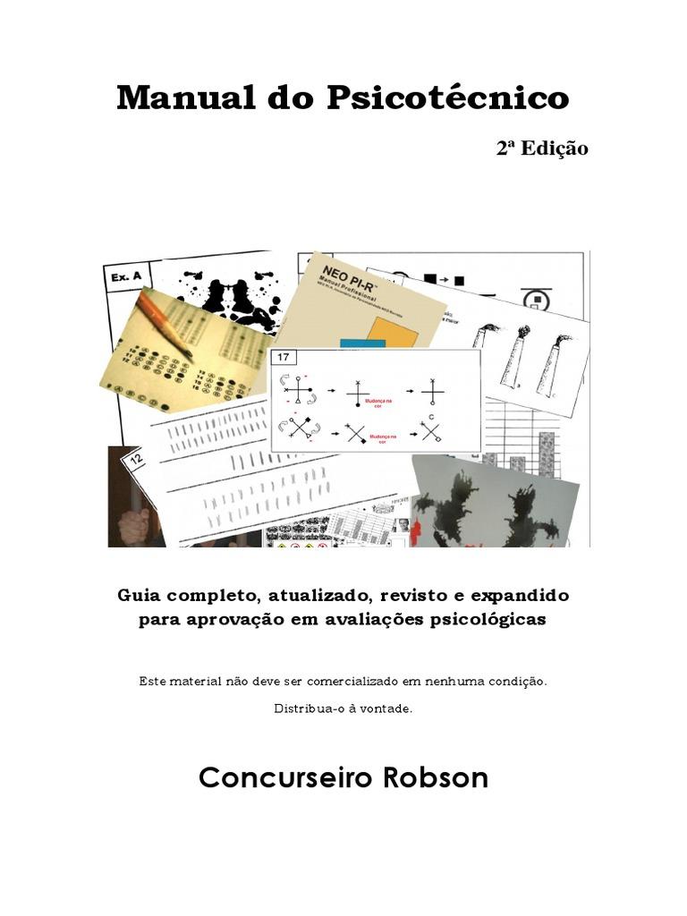 Manual do psicotcnico segunda edio fandeluxe Choice Image