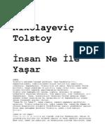 Lev Nikolayevic Tolstoy Insan Ne Ile Yasar