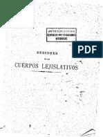 Sesiones Cuerpos Lejislativos v.2