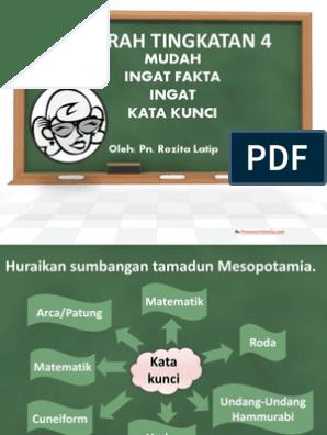 Mudah Ingat Fakta Esei Sejarah Infographics Text