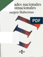 Habermas Jurgen - Identidades Nacionales Y Postnacionales