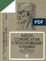 ADELA CORTINA - RAZÓN COMUNICATIVA Y RESPONSABILIDAD SOLIDARIA