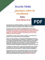 Mella, Ricardo - Divagaciones sobre la Enseñanza