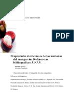 Propiedades medicinales de las xantonas del mangostán. Referencias bibliográficas, UNAM