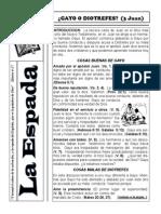 Boletin La Espada Septiembre-Octubre, 2013