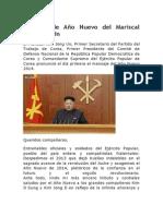 Mensaje de Año Nuevo del Mariscal Kim Jong Un