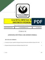 Programa General de Desarrollo Df 2013 a 2018