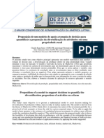 Proposição de um modelo de apoio a tomada de decisão para quantificar a proporção da diversificação de atividades em uma propriedade rural