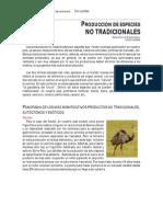 Produccion de Especies No Tradicionales