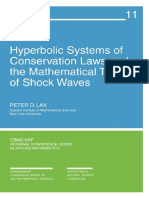 Lax - Hyperbolic Systems of Conservation Laws and the Mathematical Theory of Shock Waves