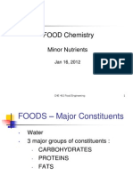Food Chemistry Minor Nutrients
