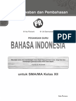 Kunci Jawaban Buku Bahasa Indonesia Kelas 12 Kurikulum 2013 Revisi 2018 Dapatkan Data