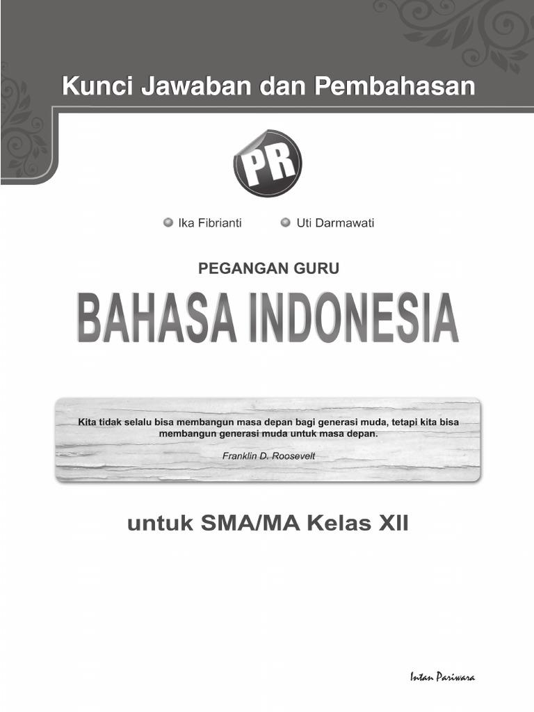 01 Kunci Jawaban Bahasa Indonesia Kelas 12