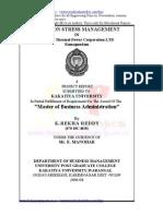 Stress Management Project