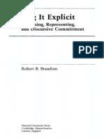 [Robert Brandom] Making It Explicit Reasoning