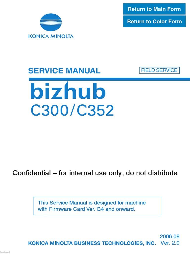 konica minolta bizhub c300 c352 ac power plugs and sockets rh scribd com Bizhub C350 bizhub c300 service manual pdf