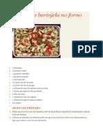 Salada de Berinjela No Forno