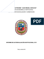 INFORME AUTOEVALUACION INSTITUCIONAL 2011