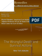 Economic loss and death damages in tort - New York State Remedies Prof. George W. Conk Fordham Law School Spring 2014