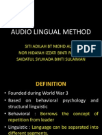 Audio Lingual Method