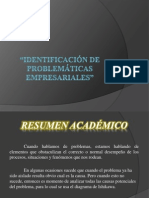 IDENTIFICACIÓN DE PROBLEMATICAS EMPRESARIALES