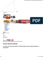 Fried Chicken Kebab Recipe - NDTVCooks