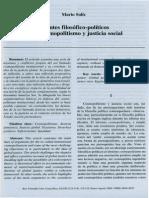 Apuntes Filosoficos- Politicos Sobre Cosmopolitismo y Justicia Social