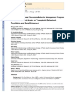 Effects of a Universal Classroom Behavior Management Program in First and Second Grades on Young Adult Behavioral, Psychiatric, and Social Outcomes*