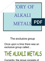 The Story of Alkali Metals