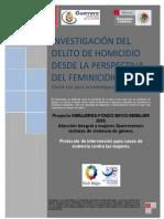 Investigacion Del Delito de Homicidio Desde La Perspectiva Delfeminicidio