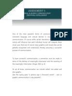 Visual and Graphic Communication, Emotional Intelligence