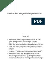 4. Analisis Dan Pengendalian Persediaan