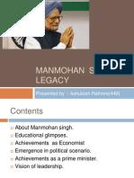 Manmohan  Singh's Legacy
