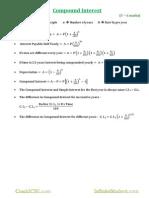 Maths formula sheet of icse students