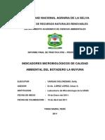 INDICADORES MICROBIOLÓGICOS DE CALIDAD AMBIENTAL DEL BOTADERO LA MOYUNA