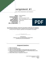 Lachlan Rashbrook Web Communications 101 Assignment 1