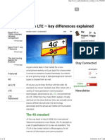 4G vs LTE - Key Differences Explained
